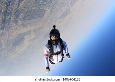 Dubai. Adrenaline Sky sport. Skydiving jump. Skydive Dubai.
