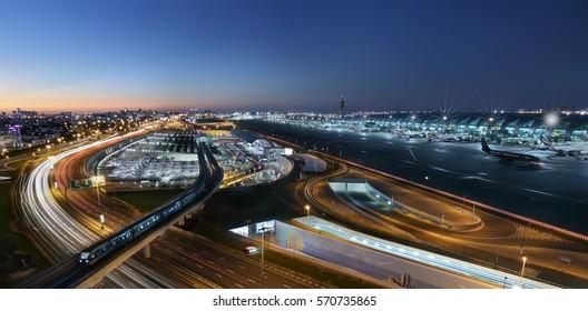 Dubai Airport Terminal Night View
