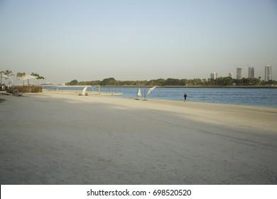 Dubai amazing morning beach.