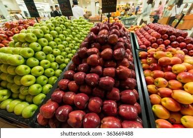 Dubai - AUGUST 8, 2014: Dubai Supermarket Waitrose on August 8 i
