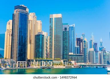 Dubai city downtown. Marina area, UAE