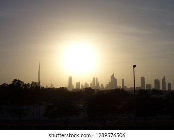 Dubai city skyline in January 2009