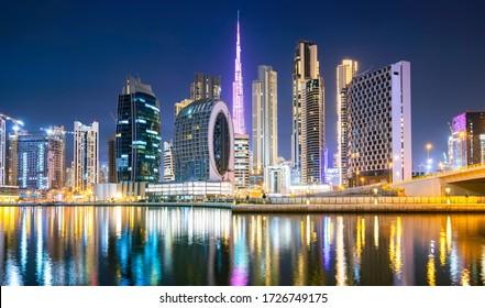 Dubai city ultramodern skyline, Arab Emirates
