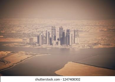 Dubai desert and skyscrapers