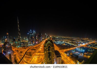 Dubai, the desert state takes on a whole new persona at night, when the buildings and roads are artificially lit.