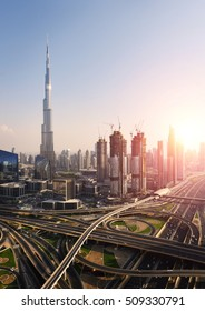 Dubai downtown cityscape