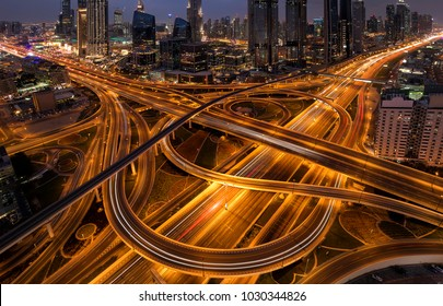 Dubai highway in Downtown