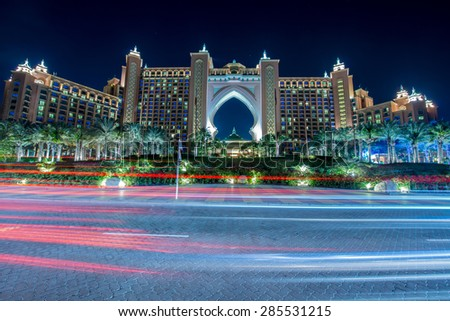 Dubai January 8 2015 Atlantis Palm Stock Photo Edit Now 285531215