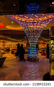 DUBAI MALL,UNITED ARAB EMIRATES, UAE-20th SEPTEMBER 2017- Dubai mall sits at the base of the burj-khalifa, it is a huge shopping mall attracting millions of visitors each year.