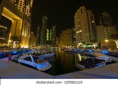 Dubai Marina is an affluent residential neighborhood known for The Beach at JBR, a leisure complex with al fresco dining and sandy stretches to relax on