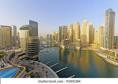 "Dubai Marina - Dubai Marina is a district in the heart of what has become known as ""new Dubai"" in Dubai, United Arab Emirates."