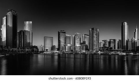 Dubai Marina Skyline Dubai - United Arab Emirates 12 November 2016.