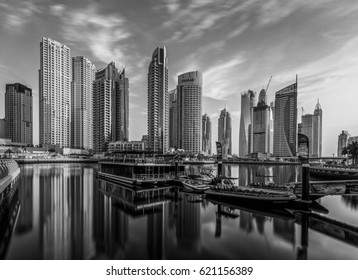 Dubai Marina Skyline. Dubai - United Arab Emirates. 31 March 2017.