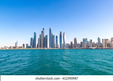 Dubai Marina in a summer day, United Arab Emirates