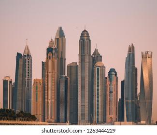 Dubai Marina sunset