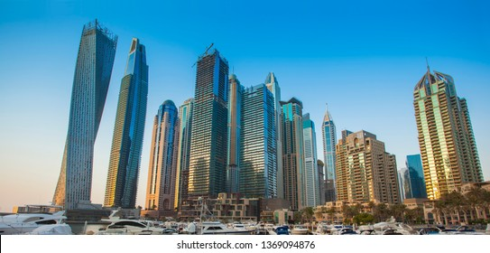 Dubai Marina sunset, United Arab Emirates