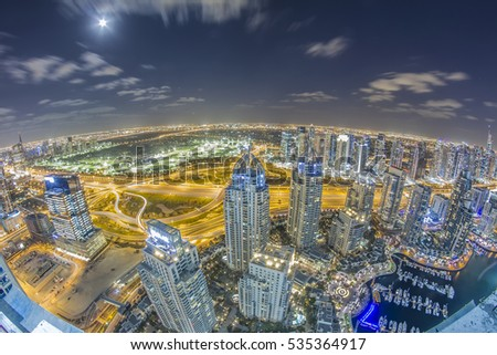 Dubai Marina Uae 7 T H December 2016 Stock Photo Edit Now