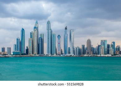 Dubai Marina view in evening