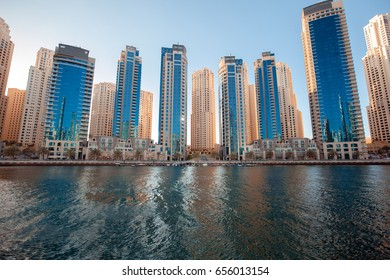 Dubai Marina viewed from boat, United Arab Emirates
