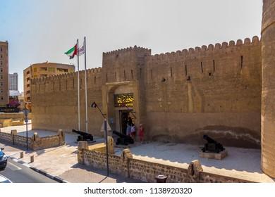 DUBAI MUSEUM, DUBAI, UAE-20th SEPTEMBER 2017:-The Dubai museum is housed in the old fort in Dubai town