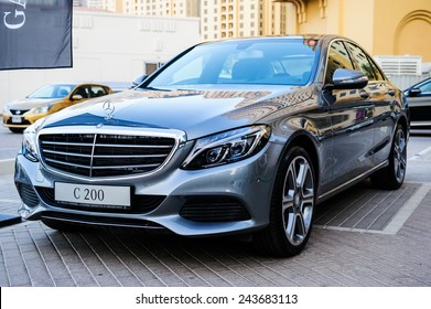 "DUBAI - NOVEMBER 26: New cars presentation at yearly automotive-show ""MECONTI"" event. November 26, 2014 in Dubai, United Arab Emirates."