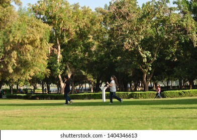 DUBAI - OCTOBER 10, 2015. This photo was taken at the Dubai Creek Park in Dubai, United Arab Emirates. It was a sunny day for a walk in the park.