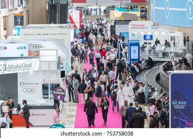 DUBAI - OCTOBER 8: 37th Gitex technology week exhibition in Dubai World Trade Center on October 8, 2017 in Dubai, UAE