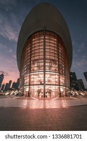 Dubai Opera, Dubai, United Arab Emirates - Jan.15, 2018: Beautiful modern opera house, with a changing functional design of the stage and the auditorium