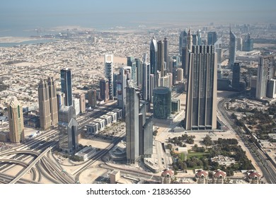 Dubai panorama view from 450 m.