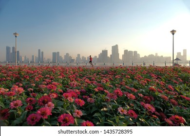 Dubai is a place where nature meets the skyline. The UAE government has provided a perfect layout of parks that have cyclers and joggers track to promote healthy living.