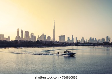 Dubai skyline at dawn