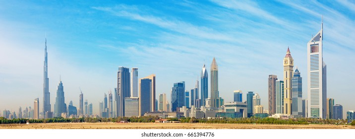 Dubai - The skyline of Downtown. - Shutterstock ID 661394776