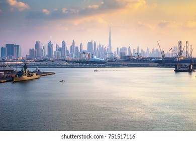 Dubai - The skyline of Downtown. United Arab Emirates