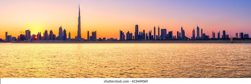 Dubai Skyline panorama. UAE