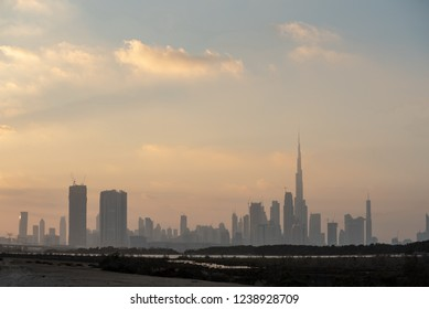 Dubai skyline from Ras Al Khor, United Arab Emirates