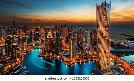 Dubai skyline view