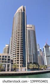 Dubai, UAE - 12 April 2019: Park Island is a luxury waterfront high rise residential complex by Emaar development in Dubai Marina