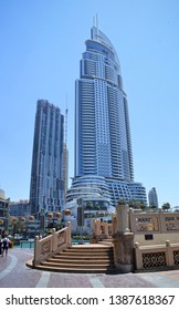 Dubai, UAE - 16 April 2019: Address Downtown Hotel skyscraper by Emaar