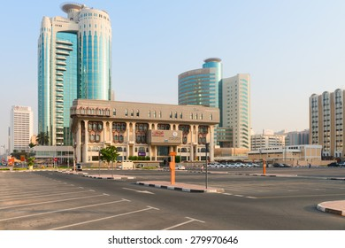 DUBAI, UAE - 16 JULY 2014: Land department goverment of Dubai building  with ultra-modern architecture of Dubai