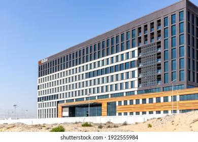 Dubai, UAE, 22.02.2021. New flydubai Headquarters building finished.