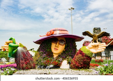 Dubai, UAE - 28th Feb, 2016: Scenic beauty at Dubai Miracle Garden