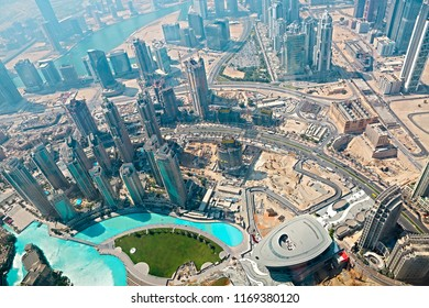 Dubai, UAE. Aerial view from the height