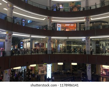 DUBAI, UAE - APR 28: Dubai Mall in Dubai, UAE, as seen on Apr 28, 2018. At over 12 million sq ft, it is the world's largest shopping mall based on total area and 6th largest by gross leasable area.