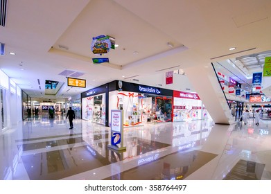 DUBAI, UAE - APRIL 08, 2015 Dubai outlet mall Mall, the world's largest outlet mall, in Al Ain road,is the and home to over 1200 of the world premium and top brands.