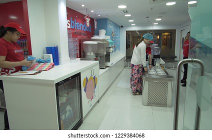 Dubai, UAE - April 08, 2018: KidZania Dubai provides children and their parents a safe and very realistic educational environment at Dubai Mall