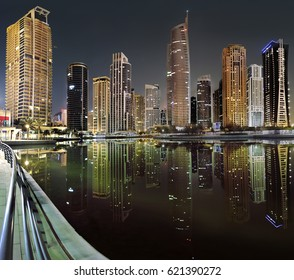 DUBAI, UAE - APRIL 10: A view of Jumeirah Lake Towers (JLT) on April 10, 2017 in Dubai, United Arab Emirates.