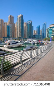 DUBAI, UAE - APRIL 27: Dubai Marina on April 27, 2014 in Dubai, United Arab Emirates. Dubai is biggest city of UAE and one of the most important financial centers of the Middle East economy