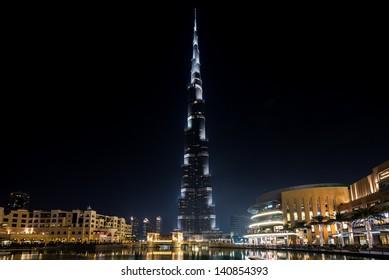 DUBAI, UAE. - APRIL 29 : Burj Khalifa - tallest building in the world, at 828m. on April 29, 2013 in Dubai, UAE.