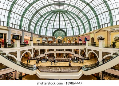 DUBAI, UAE - APRIL 29: Shoppers at Mall of the Emirates on April 29, 2013 in Dubai. Mall of the Emirates is a shopping mall in the Al Barsha district of Dubai.