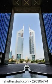 Dubai, UAE, April 7 2012. Emirates Towers in Dubai.